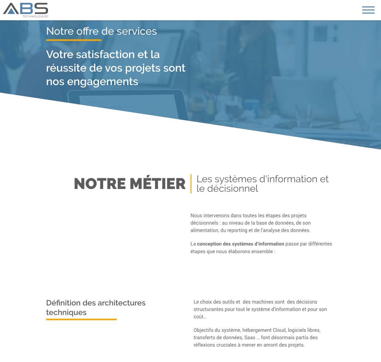 Le Métiers d'ABS Technologies